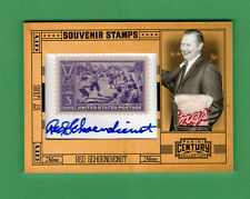 2010 PANINI CENTURY RED SCHOENDIENST RAWLINGS LAUNDRY TAG AUTO STAMP 1/10