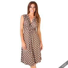 Maternity Clothing Pregnancy Polka Dot V Neck Dress Stretch Pleated Skirt Summer Mocha/white-low Cut Plunge Breast Feeding Vest Top 12