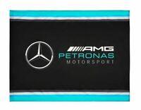 2019 Mercedes-AMG F1 Formula 1 Team Official Fan Flag 120x900mm Lewis Hamilton