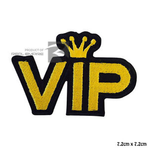VIP King Iron On Sew On Embroidered Patch Badge For Clothes etc