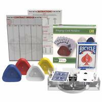 Bridge Card Game Gift Set [ 2 decks, 4 Holders, 1 Score Pad, 1 Game Instruction)