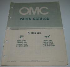 Ersatzteilkatalog Parts Catalog OMC 4 Models Bootsmotor Boot Engine März 1984!