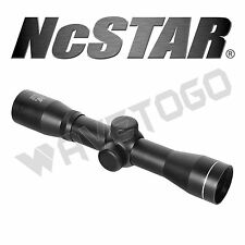 NcSTAR 2.5X30 Long Eye Relief Rifle Scope Plex Reticle Tactical Weaver Rings