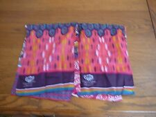 "2~FORD WARRIORS IN PINK 2010 COTTON CANCER SCARF'S   9"" X 52"""