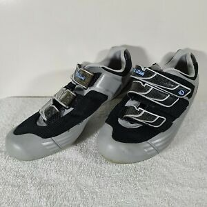 Pearl iZumi Womens US 7 Blue Silver I Beam Cycling Shoes Used
