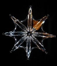 "Spectacular Baccarat Crystal Art Glass Stella 8 Point 15"" Starfish Bowl Dish 8lb"