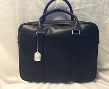 New Business Case zippered Brief Black In a Silky Calf Leather  SRP  $415.00