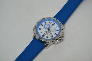 Chronograph Lorenz Regatta 026892CC 43mm Herrenuhr Quarz, Blau