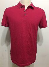 Calvin Klein Mens Fuschia Pink Short Sleeve Extreme Fit Polo Shirt