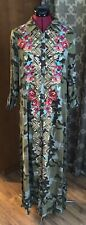 Andree By Unit Maxi Dress Camouflage With Floral Embroidery Size LG NEW with Tag