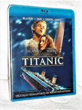 Titanic (Blu-ray/DVD, 2012, 4-Disc) romance Leonardo DiCaprio Kate Winslet Billy