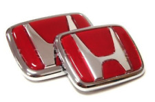 H Honda Logo JDM Red Type-R Acura Civic Accord Integra RSX Emblems Badge Logo