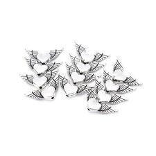 50pcs Heart Angels Wings Tibetan Silver Loose Spacers Beads Jewelrys DIY Finding