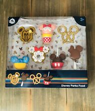 Disney Parks 7 Pc Food Snacks Figurine Play Set Cake Toppers Mickey Minnie Icons