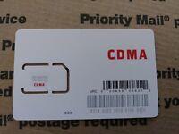 Fits VERIZON Samsung Galaxy S7 edge - RED POCKET SIM Card 4G LTE CDMA