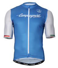 NEW Campagnolo Iridio Cycling Jersey RRP £89.99 Short Sleeve Light Blue & White