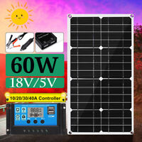 18V 60W Solar Panel Dual USB Battery Charger + 40A PWM Solar Controller