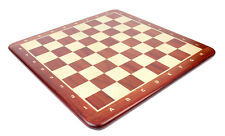 "24"" Wooden Chess Board Bud Rosewood - Inlaid Notation - Square Size 2.5"""