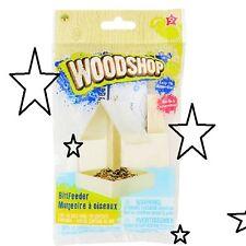 Diy Younique Woodshop Wooden Bird Feeder Kit Craft Hobby Fun Just Add Seed