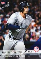 Greg Bird Grand Slam Gives Yankees HR Record on 7.11.2018 Topps NOW 444 PR=465