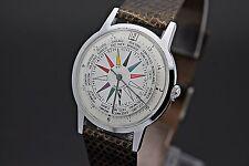 Circa 1960's VANTAGE SST World Time GMT 17 Jewel Single Hand Men's Watch