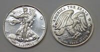 RARITIES FREEDOM America the Brave 1 ozt. .999 SILVER art round