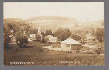 1914 Real Photo Postcard Lebanon, New York Bird's Eye View of Church & Houses