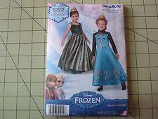 Simplicity 1222 Disney Frozen Sewing Pattern US Size Child 3-8 - NEW UNCUT