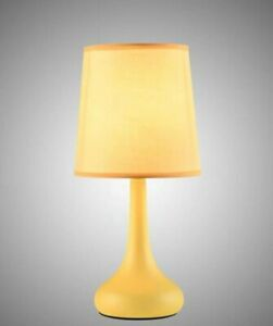 New Ochre Rimini Touch Lamp Beautiful Base Bedside Table Lamp Home Decor