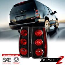 "2007-2015 GMC Yukon XL Chevy Suburban Tahoe ""DENALI STYLE"" Black Tail Light PAIR"