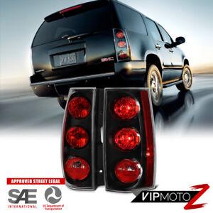 "2007-2014 GMC Yukon XL Chevy Suburban Tahoe ""DENALI STYLE"" Black Tail Light PAIR"