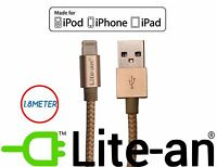 Lite-an® 1.8M Apple MFi Lightning USB Cable Charger for iPhone 7 6 5 iPad iPod