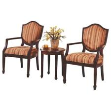 Best Master 3-Piece Traditional Fabric Upholstered Living Room Set in Walnut