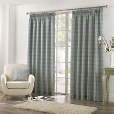 Rideaux et cantonnières verts traditionnels en polyester pour la maison