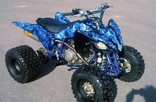Yamaha Raptor 250 graphics decal kit NO9500 Blue Zombie Skull