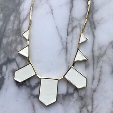 House of Harlow 1960 Gold-Tone Leather Geometric 5 Station Statement Necklace