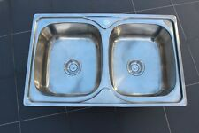 #304 Stainless Steel Kitchen Sink -Double Square Bowls (80cm)