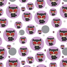 Batman Catwoman Cute Chibi Character Premium Gift Wrap Wrapping Paper Roll