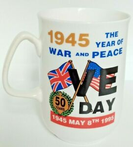 VE Day Fine Bone English China Cup 50th Anniversary  James Dean Pottery 1995