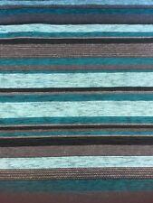 Designer Upholstery Fabric Toronto Stripe Peacock By The Metre