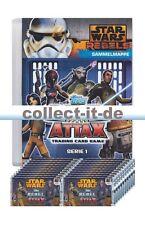 RA1 - Spar 4A - 1 Sammelmappe (LEER) + 20 Booster - Rebel Attax - Star Wars - Se