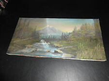 One neat old unframed wilderness  scenes canvas painting.