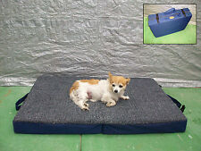 Fold Up Orthopedic Travel Dog Bed - Medium 4 Seasons Portable Pet