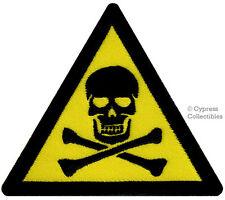 DANGER WARNING SIGN - POISON EMBROIDERED PATCH SKULL CROSSBONES iron-on SYMBOL