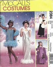 2384 Uncut Vintage Mccalls Cartamodello Glamour Ragazze Costume Halloween Oop