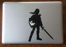 Zelda Link Vinyl Sticker Decal Macbook Pro window laptop USA Gamer Nerd Nintendo