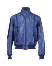 $695 Just Cavalli Metallic Blue Jacket size 38 Medium Windbreaker Coat Roberto