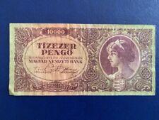 HUNGARY 10,000 PENGO 1945  - VERY FINE(3)
