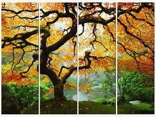 Amazing Maple Set of 4 Canvas Wall Art 35.43 X 47.2 Inch Glow in Dark