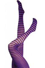Spandex Striped footed Tights for Women